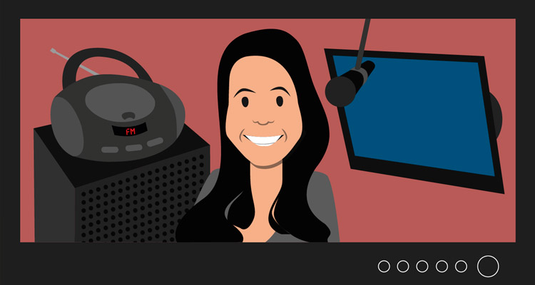 A Querobolsista Aline Rodrigues estuda para chegar no Globo Esporte