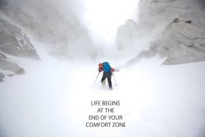 """""""A vida começa onde acaba sua zona de conforto"""""""