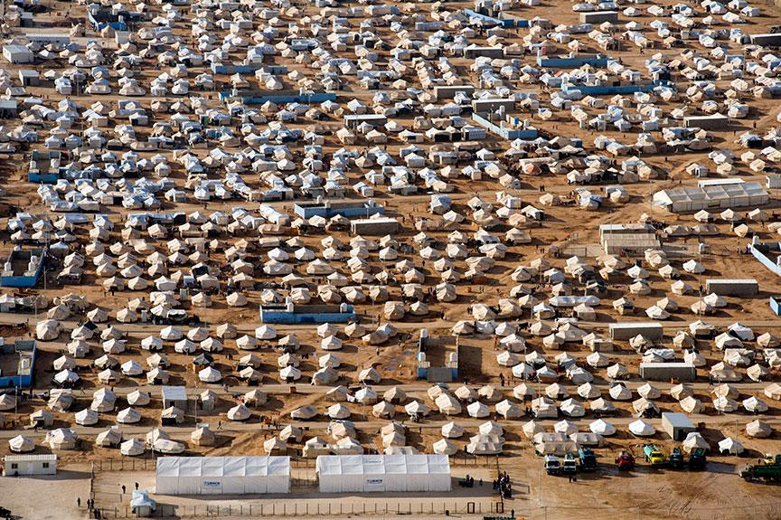 Mafraq- Jordânia, 03/04/2014- Número de refugiados Sírios e Libaneses passam de um milhão segundo ONU, campo de refugiados onde  milhares de sírios estão alojados. Foto: Mark Garten/ UN (07/12/2012)
