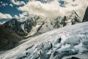 Glaciar avistado do Paso Trapezio, a 5150m de altitude