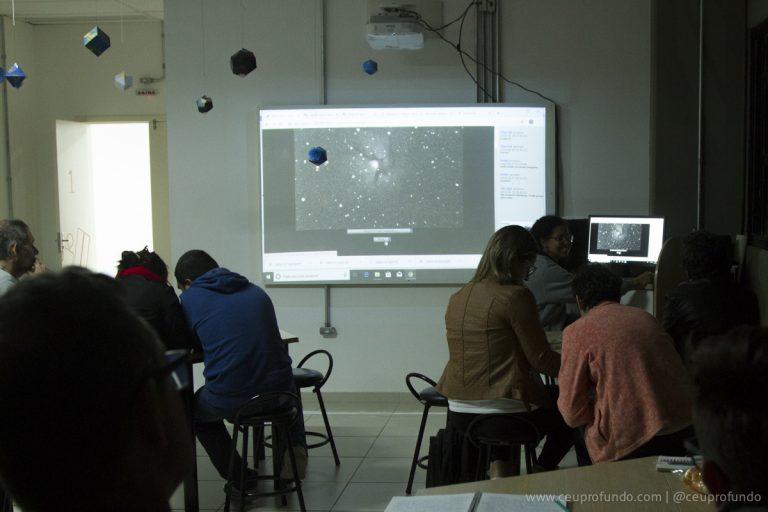 Sessão de observação remota com o telescópio Argus
